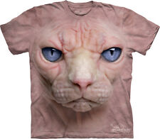 The Mountain Hairless Pink Cat Kitten Face Adult T-Shirt PRINT IN USA MT63