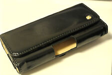 Black Genuine Leather Tradesman Workman Belt Clip Case Cover Pouch For Phones