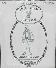 18th Century Men's Waistcoat Pattern by Mill Farm Patterns
