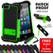 NEW ULTRA SHOCK PROOF CASE COVER+ STAND FOR IPHONE 5 5S SCREEN PROTECTOR STYLUS
