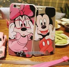 Funny Mickey Minnie Couple Frosted Phone Case Cover for iPhone 5 6 S plus P484