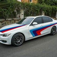 Car styling KK tricolor racing stripe car sticker auto hood bonnet decal for BMW