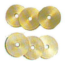 """1"""" Brass or Nickel Silver Spacers, Knifemaking Spacer,Drilled 3/16"""" Center"""