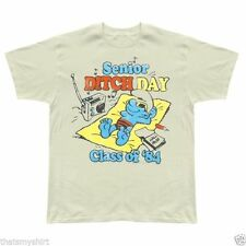 New Authentic Junk Food Mens The Smurfs Senior Ditch Day Class of 84 T-Shirt