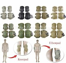 Protective Knee and Elbow Pad Paintball Airsoft Tactical Combat Skate Adjustable