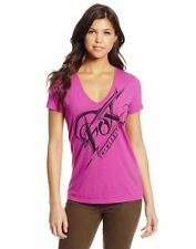 WOMENS FOX RACING  -SPLINTER- BERRY PUNCH V-NECK T SHIRT