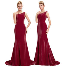 Cocktail Homcoming Maxi One Shoulder Satin Gown Evening Prom Party Dress Mermaid