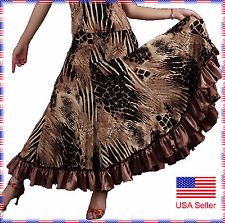 SGS09AP (S-XL) New Women Ballroom Smooth Tango Flamenco Full Circle Dance Skirt