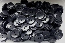 Large 25mm 40L Charcoal Grey 2 Hole Jacket Cardigan Coat Button Craft (W204)
