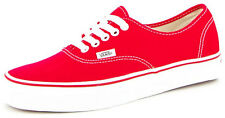 New Men's Vans Limited Colour Authentics Red Footwear Sneakers Shoes Runners