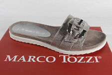 Marco Tozzi Ladies Slippers Sandals Silver New