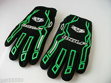 NEW WULFSPORT GREEN KIDS GLOVES (ALL SIZES) MOTOCROSS TRIALS QUAD YOUTH MX KX