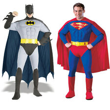 Superman/Batman Muscle Fancy Dress Mens Superhero Adult Costume - FAST+FREE POST
