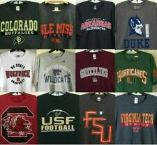 New NCAA Men's T-shirt College Tee Shirt ARKANSAS Miami, Oklahoma, NC State, MSU