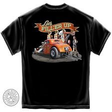 Hot Rod Muscle Car T-Shirt. Fill Her Up.. Classic Hot Rod Tee