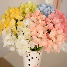 Simple Artificial Hydrangea Bouquet Silk Flowers Wedding Bridal Party Home Decor