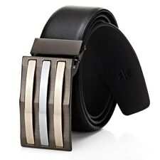 Brand New Top Quality Men's Genuine Leather Black  Dress Belt RRP $59.95