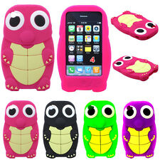 Cute 3D Turtle Zoo Animal Soft Silicone Skin Case Cover For Apple iPhone 4 4S 4G