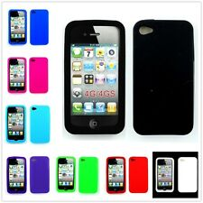Colorful Soft Silicone Bumper Rubber Skin Case Cover For Apple iPhone 4 4S 4G GS