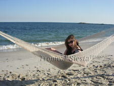 NEW HANDWOVEN WHITE COTTON MAYAN Mexican Hammock Double