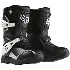 NEW FOX RACING BLACK SILVER KIDS PEE WEE CHILD COMP 5 RIDING MX ATV BOOTS BOOT