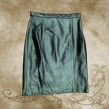 Ladies Leather High-Waist Pencil Skirt (Italian Lamb Skin First Quality)