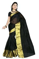Black Indian Art Silk Sari Saree Fabric Bollywood Saree Curtain Veil Belly Dance