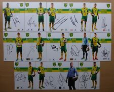 2013-14 Norwich City Signed Official Club Cards - £5 Each