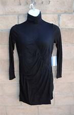 NWT $58 Beautiful Simply Vera Wang Ruched Turtleneck Black Dress Sizes PL & PS