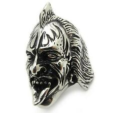 Rock Band The Demon Gene Simmons Silver Stainless Steel Men's Ring Xmas A+