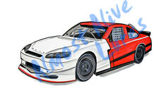 Race Car Vinyl Decal Sticker - Car Home Truck Cooler Boat RV