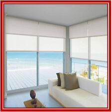 NEW! 120 x 210 Dual Double Blockout & Light Filtering Roller Blinds Ready Made