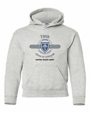 """79TH INFANTRY DIVISION """"CROSS OF LORRAINE """" BATTLE & CAMPAIGN HOODIE W/POCKETS"""