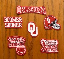 Iron On Sew On Transfer Applique Oklahoma Sooners Handmade Cotton Patches
