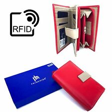 RFID SAFE Prime Hide Ladies Large Multi Coloured Leather Purse NEW 2400