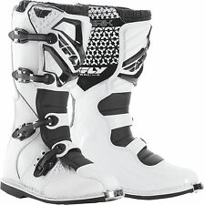 2016 FLY RACING WHITE MAVERIK MENS ADULT MX BOOTS RIDING RACING MOTOCROSS ATV