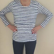 Nursing Breastfeeding Stripe Top Blue & White BNWT
