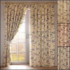 BOTANICAL TAPE TOP LINED CURTAINS - ACCESSORIES AVAILABLE