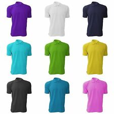 Jerzees Colours Mens 100% Cotton Short Sleeve Polo Shirt