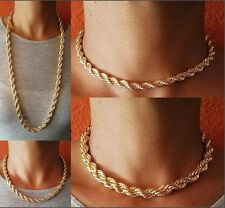 "GOLD 5MM 8MM THICK FAT HEAVY ROPE CHAIN 16"" 18"" 30"" HIP HOP CHOKER NECKLACE NEW"