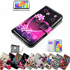 PU Leather Card Wallet Book Case Flip Cover Phone Accessories Stand For Samsung