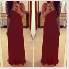 Vogue Sexy Women Lace Spaghetti Strap Maxi Dress Party Evening Ball Gown Dresses