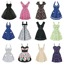 Hell Bunny New Dress Clearance Sale Vintage Style 50s Rockabilly Party Prom UK