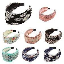 Girls Lady Beautiful Cute Wide Lace Headband Hair Band Flower Alice Band Party