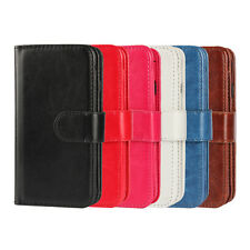 For iPhone 5/5s/SE Magnetic Leather Flip Wallet Card Slot Stand Case Skin Cover