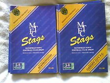MANSFIELD TOWN HOMES 1996/97