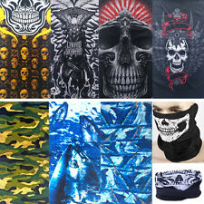 Chic Women Men Motorcycle Skull Face Biker Bandana Mask Scarf Bandanna Headwrap