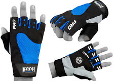 BOOM Prime Weightlifting Gym Gloves Straps GEL Padded Cycling Wheelchair Gloves