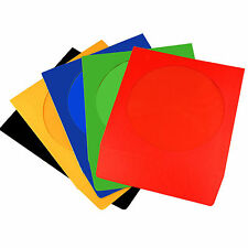 CD/DVD PAPER SLEEVES COLOUR SLEEVE COVER CASE WITH WINDOW & FLAP 100 GSM