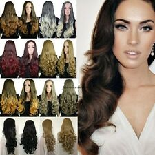 3/4 Half Wig Curl Wigs Hair Fall Synthetic Wigs for Women Medium Dark Sand Red